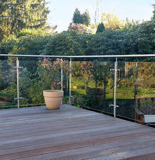 terrassen gel nder in essen nappenfeld edelstahl. Black Bedroom Furniture Sets. Home Design Ideas