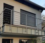 Balkongeländer aus Edelstahl in Mühlheim von der Edelstahlschlosserei Nappenfeld aus Mülheim, gebaut und umgesetz
