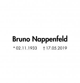 Gestorben: Bruno Nappenfeld