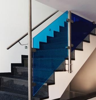 Treppengeländer für Fußballfans