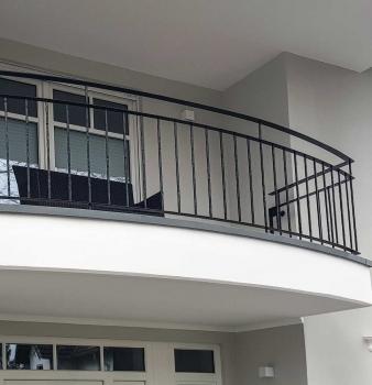Gebogenes Geländer für Balkon