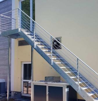 Fluchttreppe für Hotel