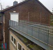 Rettungsweg aus Stahl in Duisburger Schule, geplant und umgesetzt von der Edelstahlschlosserei Nappenfeld aus Mühlheim