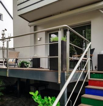 Balkon, Treppe, Geländer